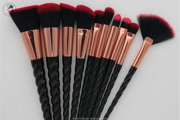 diy Goth makeup brushes